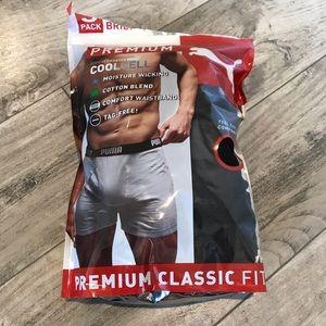 Puma Men's Premium Classic Fit 3 Pack Boxer Briefs